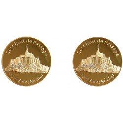D11167 Medaille 32 mm Le Mont St Michel Certificat