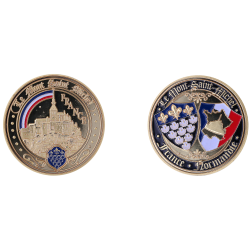 E1174 Medal 40 mm Mt Saint Michel Rainbow