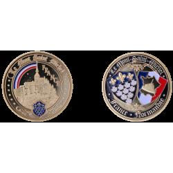 E1174 Medal 40 mm Mt Saint Michel Rainbow