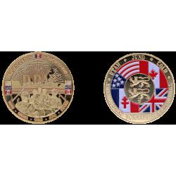 E1171 Medaille 40 mm DDay normandie plages et soldats