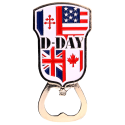 MN10 Magnet Metal D Day bottle opener Flags Allies