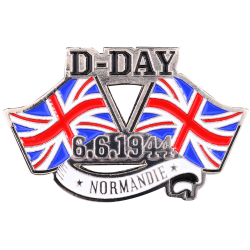 MN16 Magnet Metal D Day Flags U.K. X2