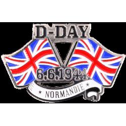 MN16 Magnet Metal D Day Drapeaux U.K. X2