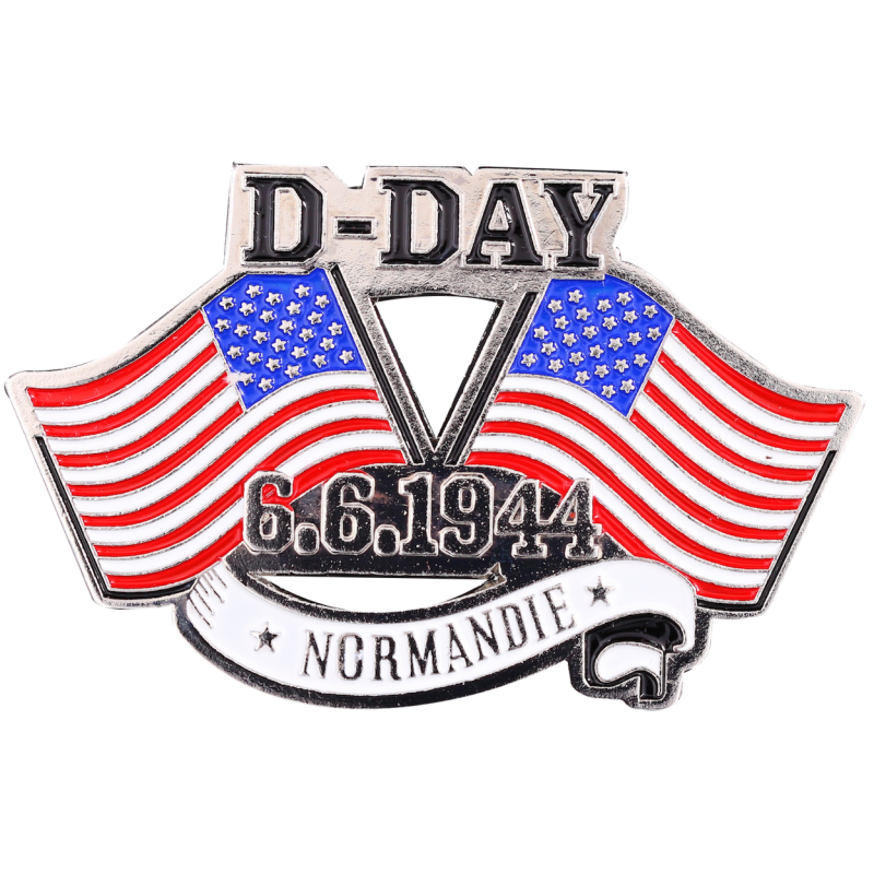 MN17 Magnet Metal D Day Flags U.S.A. X2