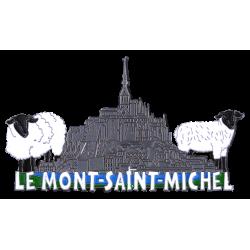 MN3 Magnet Metal Mont Saint Michel + Moutons X2