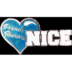MN43 Magnet Nice Coeur Bleu