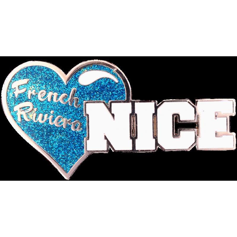 MN43 Magnet Nice Coeur Blue