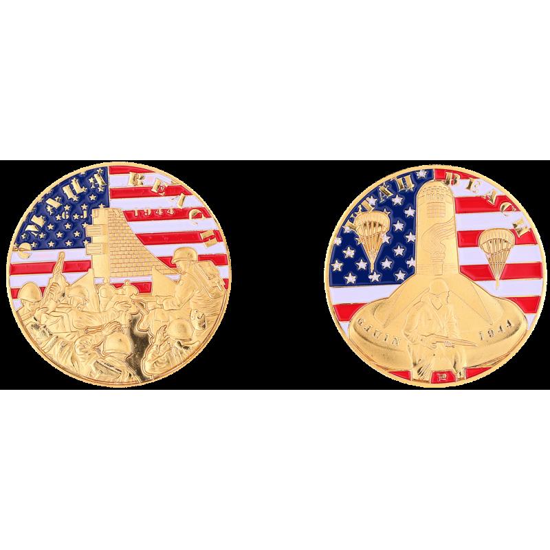 EA4 Medal 40 mm Vintage Omaha Beach Utah Beach