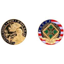 Coin 32 mm  4Th Infantry...