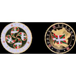 Coin 34mm Basque Cross of...