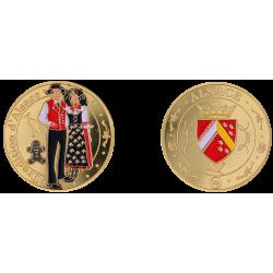 Coin 32 mm Alsace Alsacian...