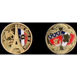 D11431 Medaille 32 mm T.E. France Coeur