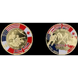F1110 Medal 70mm Debarquement 6 Juin 1944