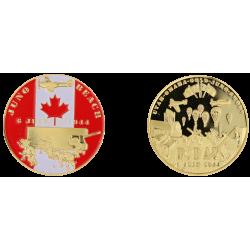 EA3 Medal 40 mm Vintage Juno Beach Debarquement