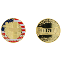 E117 Medal 40 mm Cimetiere Us Memorial