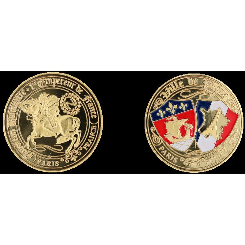 E1168 Medal 40mm Paris Napoleon Blasons