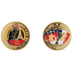 E1166 Medaille 40mm Paris Chat Noir Blasons