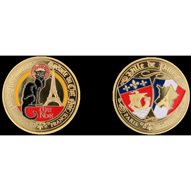 E1166 Medal 40mm Paris Chat Noir Blasons