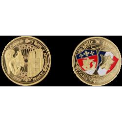 E1164 Medaille 40mm Paris Nd Gargouille Blasons