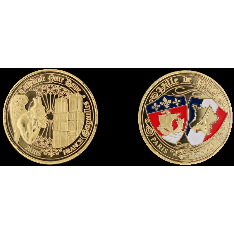 E1164 Medal 40mm Paris Nd Gargouille Blasons