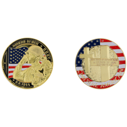 E1159 Medaille 40 mm Vintage Omaha Cimetiere Us