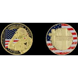 E1159 Medal 40 mm Vintage Omaha Cimetiere Us