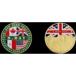 E1158 Medal 40 mm Vintage Sword Beach Logo D Day