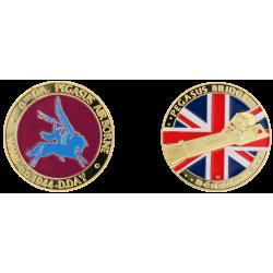 E1154 Medaille 40 mm Pegasus Bridge Logo Pegasus (