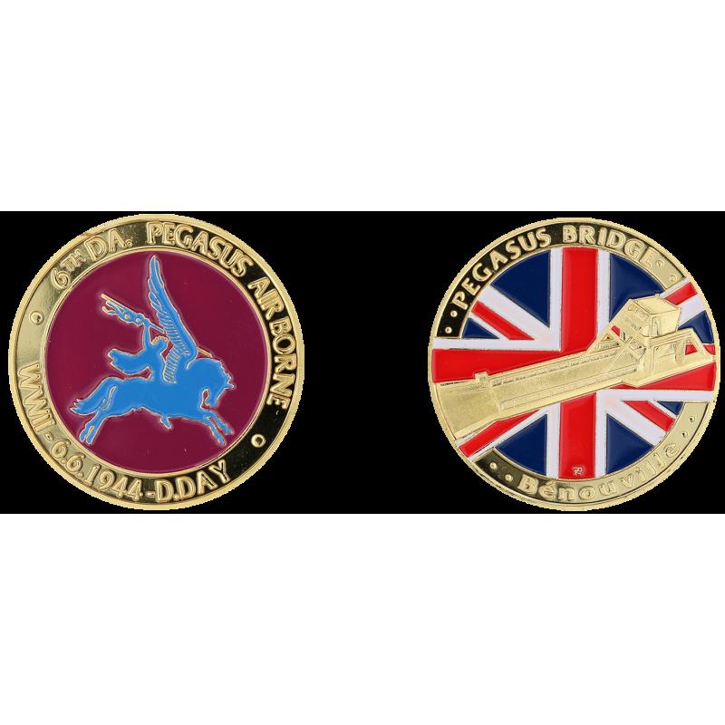 E1154 Medal 40 mm Pegasus Bridge Logo Pegasus (