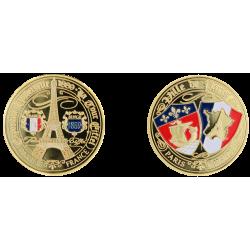 E1150 Medaille 40 mm Classic Paris T.E. Blasons