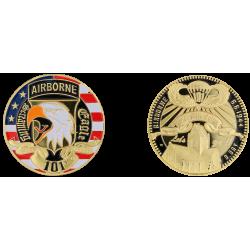 E1149 EXCLUSIVITE CLIENTVente uniquement en Magasin Medaille 40 mm Ste Mere Eglise Contour Noir 101St
