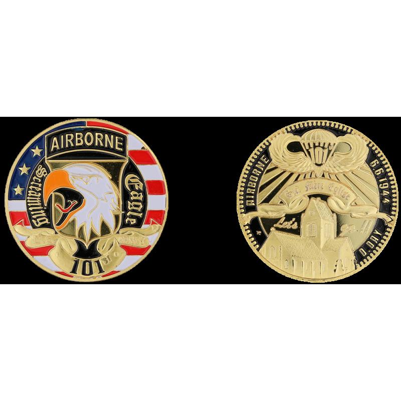 E1149 Medal 40 mm Ste Mere Eglise Contour Noir 101St