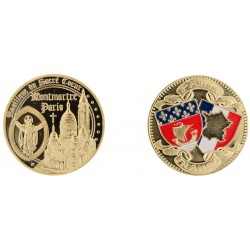 D11208 Medaille 32 mm Sacre Coeur + Jc