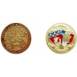 D11217 Medaille 32 mm T.E. Vue Aerienne