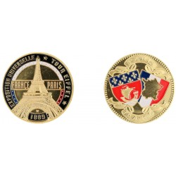 D11218 Medal 32 mm T.E. Expo Couleur Contour Noir