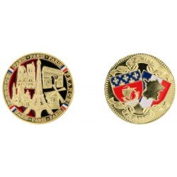 D11219 Medaille 32 mm 5 Monuments