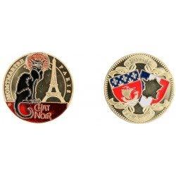 D11220 Medaille 32 mm Chat Noir