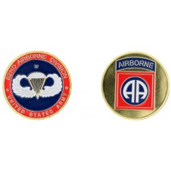 D1125 Medal 32 mm 82Nd Div. Airborne Classic