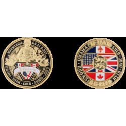 E1139 Medal 32 mm 70Eme Anniv. + Barges Logo D Day