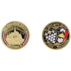 D11383 Medal 32 mm Le Mont St Michel Banniere France