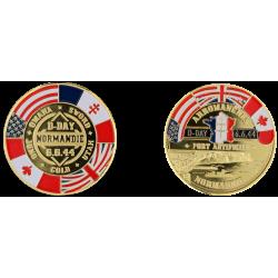 E1129 Medal 40 mm Arromanches Logo D.Day